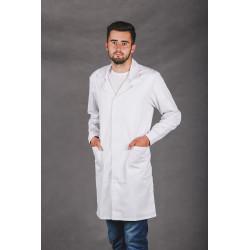 Fartuch medyczny GUZIKI ELANOBAWEŁNA laboratoryjny