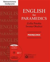 English for Paramedics Podręcznik z płytą CD  Patoka Zofia, Okulicz Iwona-42884