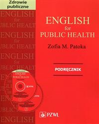 English for Public Health Podręcznik   CD  Patoka Zofia M.-95823