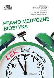 LEK last minute Prawo medyczne Bioetyka  Niebrój L., Pampuszko P.-129416