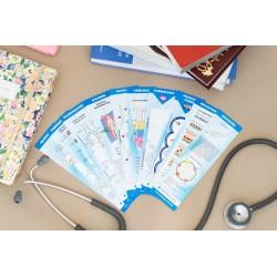Zakładki medyczne KOMPLET 10 sztuk - anatomia,...